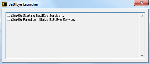 Failed to initialize BattlEye Service pubg