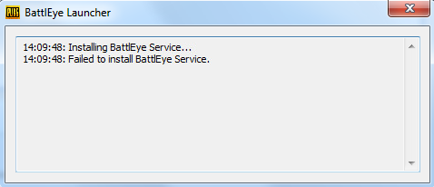 Failed to install BattlEye Service pubg