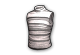Sleeveless Turtleneck(Gray Striped)